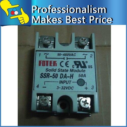 SSR 50DA H solid state relay 50A input 3 32V DC Load 90 480V AC
