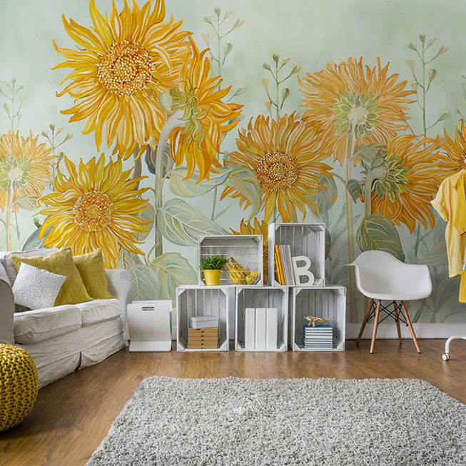 Hand Painting Large 3d Wall Murals Wallpaper For Walls