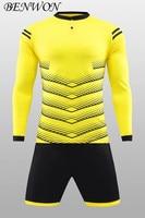 Professional Custom Soccer Jerseys Shorts DIY Name Number Long Sleeve Soccer Uniforms Adults Breathable Football Kits Tracksuits