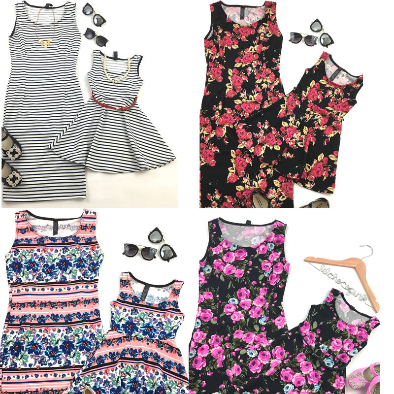 2020 New Mother And Daughter Dress Summer Floral Sleeveless Women Dress Kids Dress Family Match Clothes