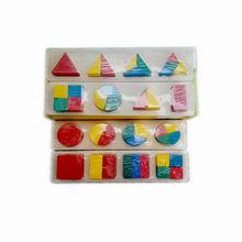цена Free shipping Kids Wooden Geometric blocks jigsaw Montessori teaching AIDS children's early education building blocks toys онлайн в 2017 году