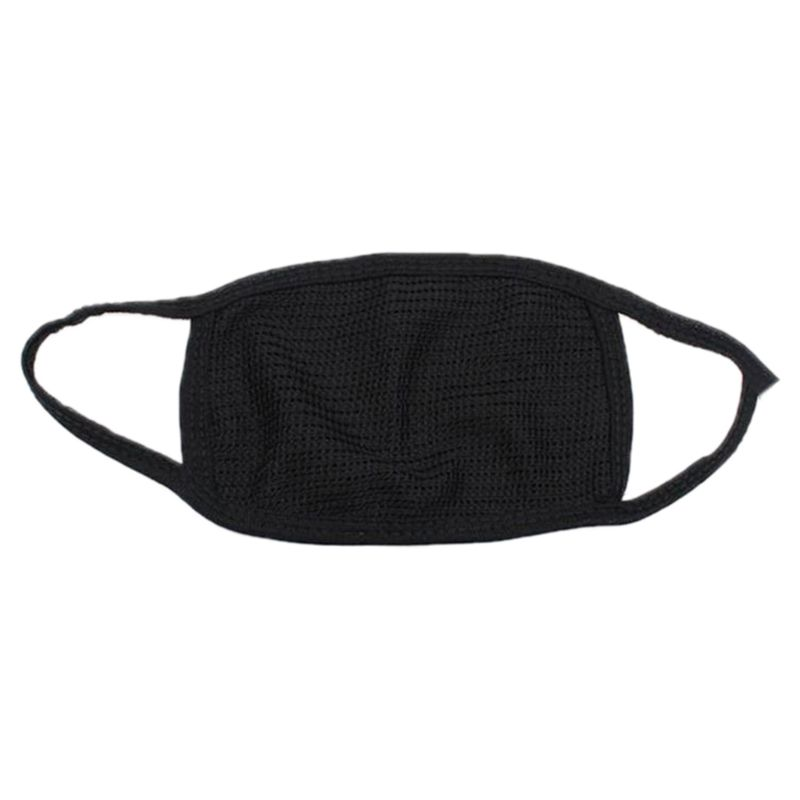 Unisex Winter Outdoor Anti-Dust Half Face Mouth Mask Double Layered Cotton Yarn Cycling Windproof Warmer Elastic Earloop Cover