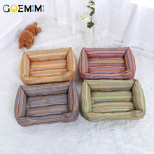 New Winter Warm Dog Bed Striped Comfortable Padded Soft for Small Large Sofa Mat House Cats cama perro