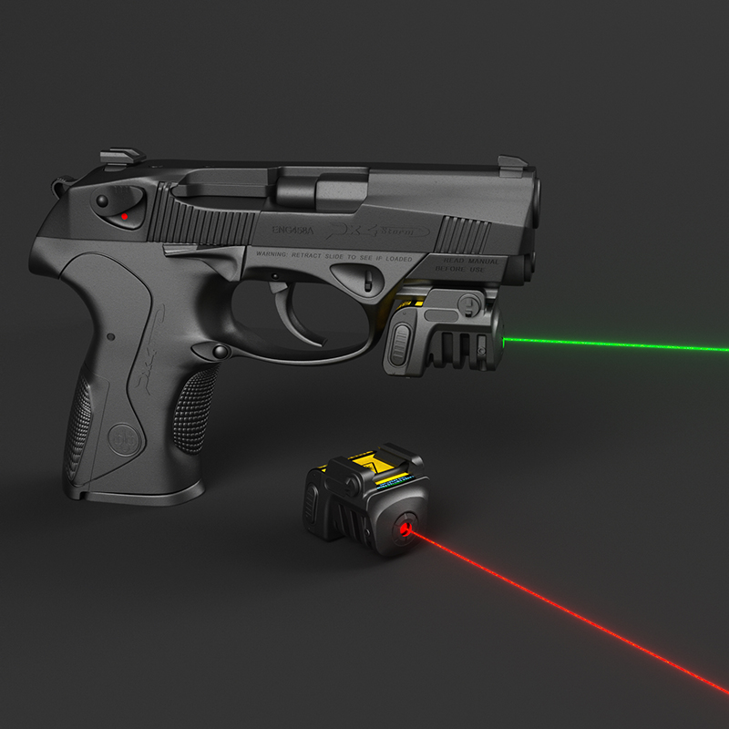 Drop shipping Laserspeed rechargeable shooting green laser sight for pistol .40 long distance laser pistola laser image