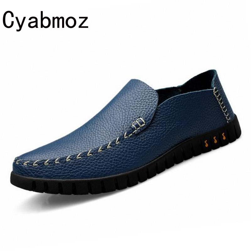 Genuine Leather Mens Shoes Casual Slip On Loafers Driving Shoes Oxfords for Man Flat Dress Shoes Men Loafers zapatos Moccasins mycolen men loafers leather genuine luxury designer slip on mens shoes black italian brand dress loafers moccasins mens