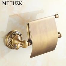 MTTUZK античная латунь бумажное полотенце стойку европейский стиль, ванная комната бумаги держатель рулона туалетной бумаги коробка туалетной аксессуары