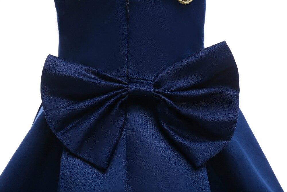 5f0f7e4c412ef Grand Arc Cravate Fille Robe Enfants Rouge et Bleu couleur Papillon Filles  De Mariage Robe Enfants or Brodé Partie Robe dans Robes de Mère et Enfants  sur ...