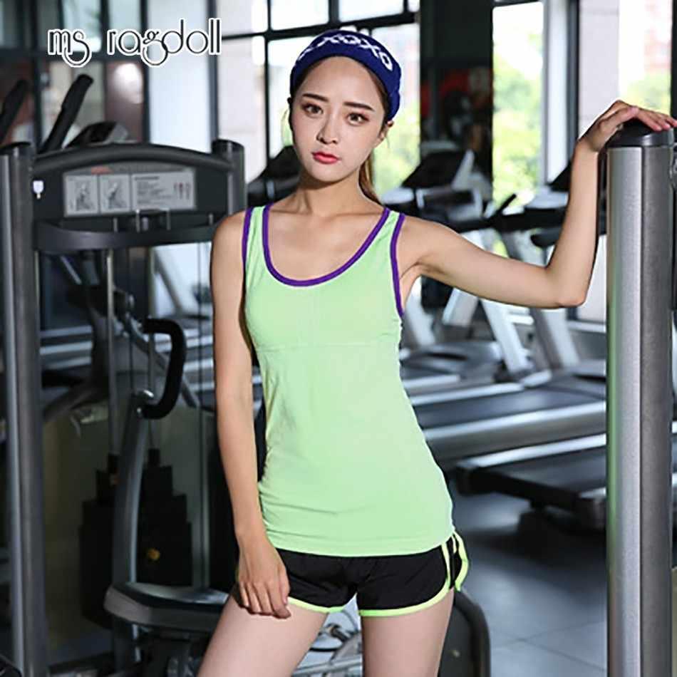 Ms Ragdoll Mulheres Sem Mangas Colete de Fitness Exercício de Treino de Esportes Camisetas de Fitness Running Mujer Esporte Colete Yoga Top Roupas de Ginástica