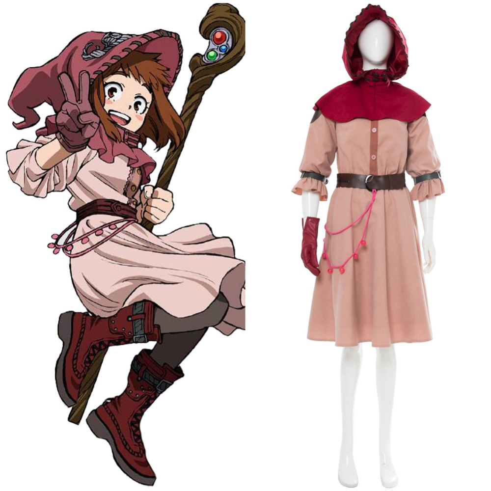 Boku no Hero Academia My Hero Academia Ochako Uraraka Cosplay Witch Uraraka Ochako Cosplay Costume Halloween Carnival Witch Ver.