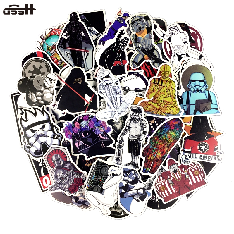 100 PCS PVC Not Repeat Star Wars Graffiti Waterproof Sticker For Luggage Car Guaitar Skate Phone Laptop Bicycle Moto Stickers100 PCS PVC Not Repeat Star Wars Graffiti Waterproof Sticker For Luggage Car Guaitar Skate Phone Laptop Bicycle Moto Stickers