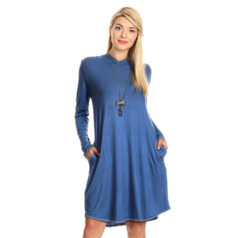 a61211e2d76 Autumn Dress Women Modest Hoodies Casual Vestido Long Sleeves Knee Length  Party Tunic Dresses WS4630Y-in Dresses from Women's Clothing on  Aliexpress.com ...