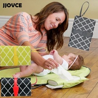 JJOVCE Multifunctional Storage Folding Portable Baby Diaper Changing Mat Waterproof Nappy Pad Outside Hangs Stroller