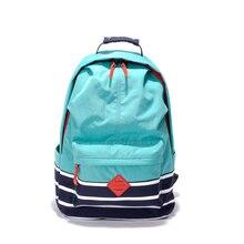 2017 de muy buen gusto bolsas escolares mochila para chicas adolescentes mochilas lindo de rayas de impresión mujeres mochila de nylon impermeable bolso Femenino