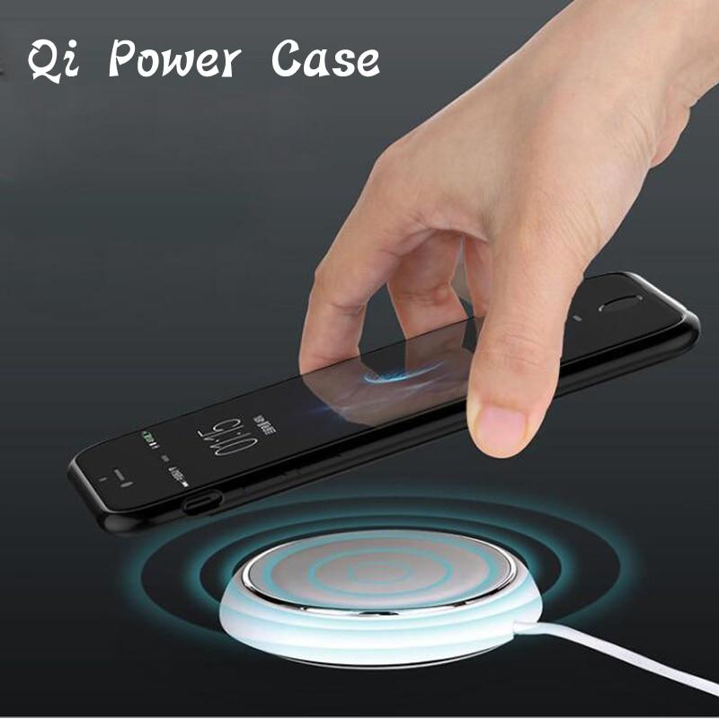 imágenes para 2017New Cargador Inalámbrico QI Receptor Caso de La Cubierta de Carga de Energía Para iPhone6 6 S 7 Más caja Del Teléfono de TPU