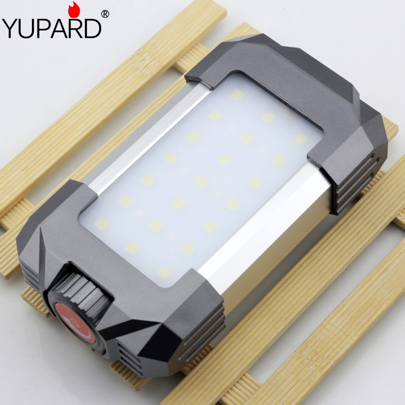 YUPARD 21 white+6pcs red le  Outdoor Lighting camping tent light lamp campement hiking linterna rechargeable 18650 battery outdoor camping tent for children baby white red