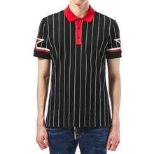 2018 Design de Moda Black White Striped Polo Camisas Para Os Homens de  Negócios Casual Polos de Manga Curta Slim Fit Masculino 663a3de320669