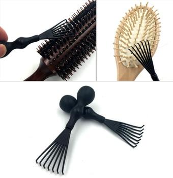 Щетка для волос, инструмент для очистки, кисть для денмана, черная, 1 шт., для удаления красоты, для женщин, пластиковая, мягкая, для волос, встроенная, забота о здоровье