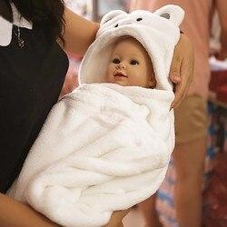 Удобный детский банный халат с милыми животными, детское одеяло с капюшоном, банное полотенце для малышей