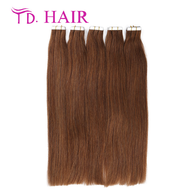 #6 Cheap Tape Hair Extenisons Remy Tape Thick Skin Weft Brazilian Hair Extension Double Drawn Brazilian Virgin Hair Straight