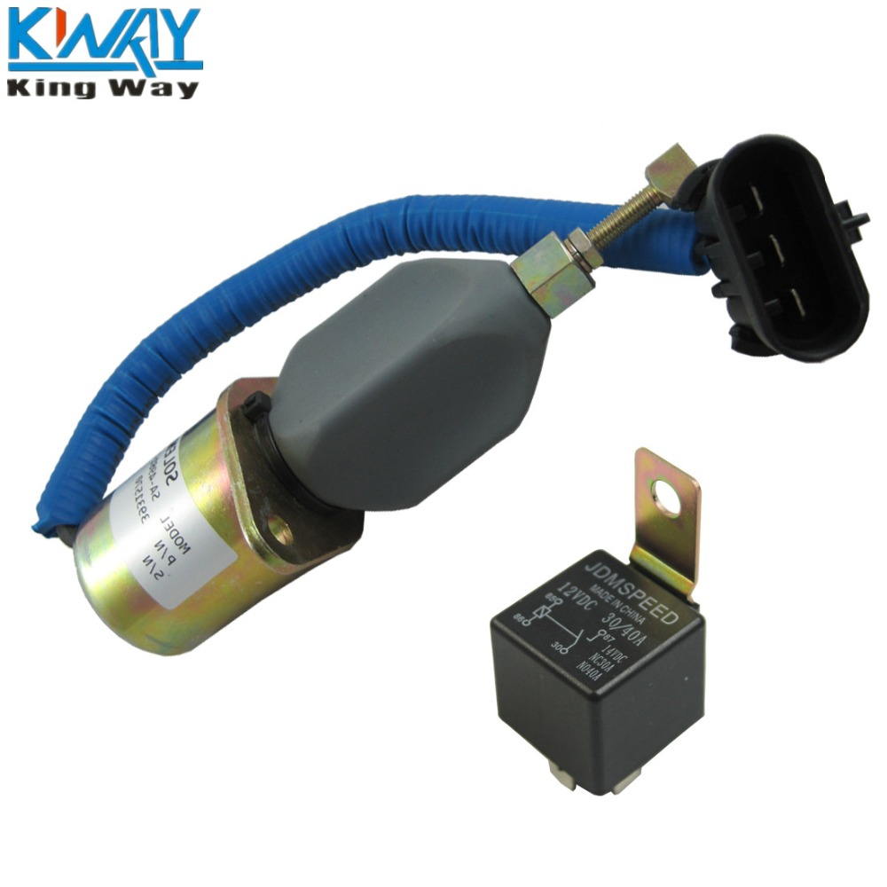 Free Shipping King Way 12v Diesel Fuel Shut Off Solenoid And Relay Filters Dodge Diesle 94 02 For 98 59l Cummins 3931570 In Supply Treatment From Automobiles