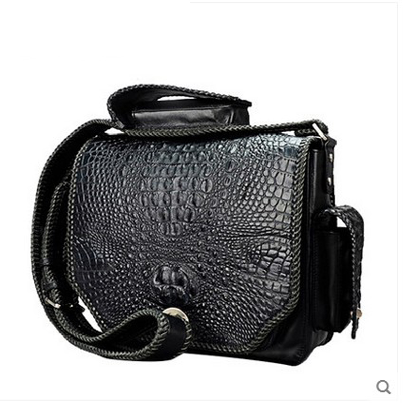 jialante crocodile skin men's handbag business men's crocodile leather single shoulder bag new style men package tihinco new authentic crocodile handbag single shoulder bag leather male fashion business and leisure bag document package