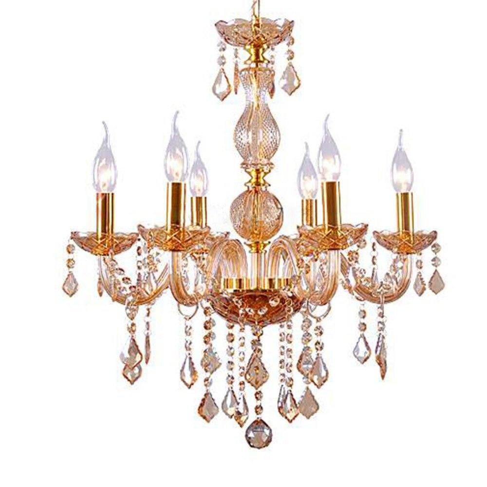 royal amber crystal lustre k9 chandelier 6 heads decorative art lights fixture italy design. Black Bedroom Furniture Sets. Home Design Ideas