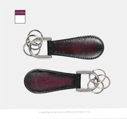 Dimy Новые украшения для обуви из натуральной воловьей кожи, винтажные семейные подарки, многофункциональная цепочка для ключей, мужские рож...