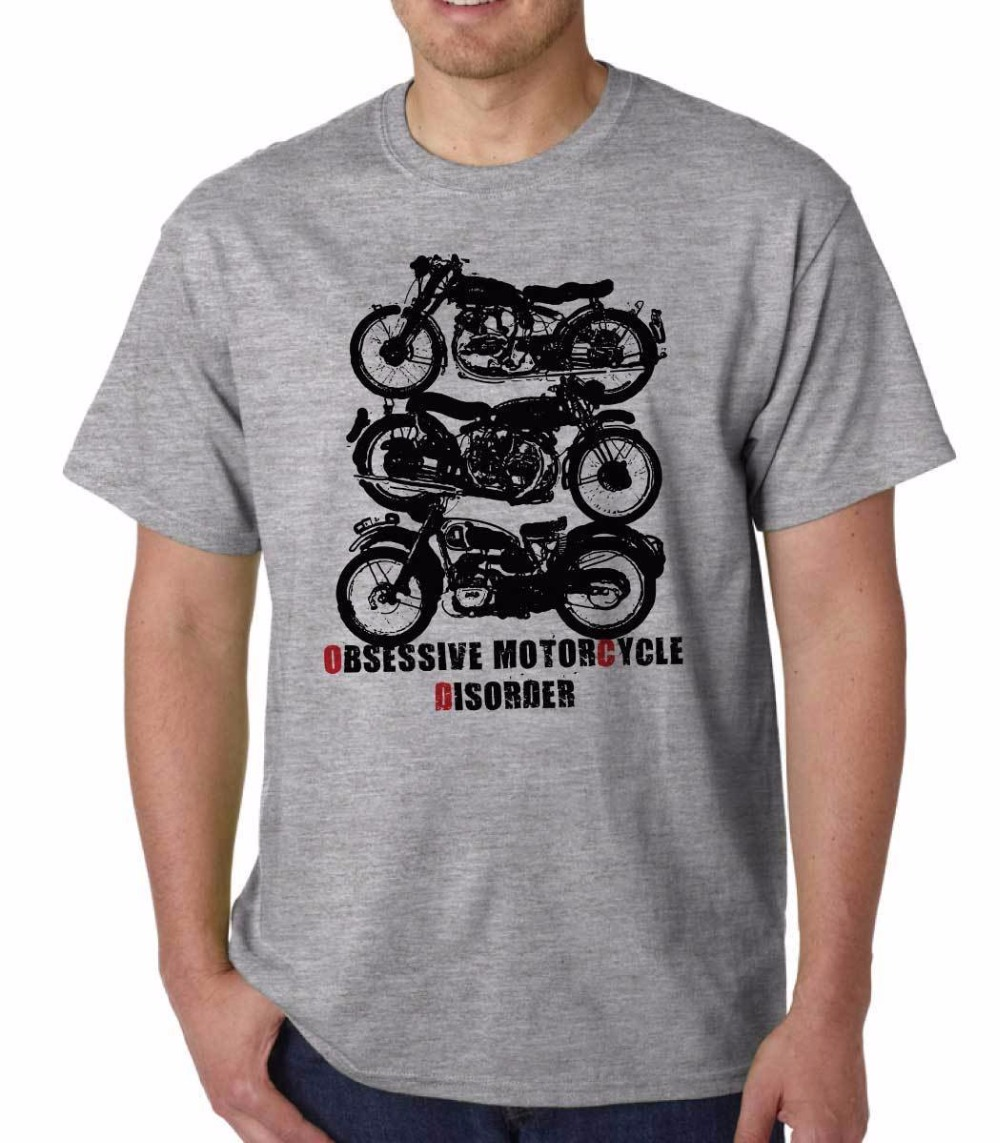 Shirt design new - 2017 New T Shirt Casual Short Sleeved Jacket Tee Forced Motorcycle Barrier Retro Norton