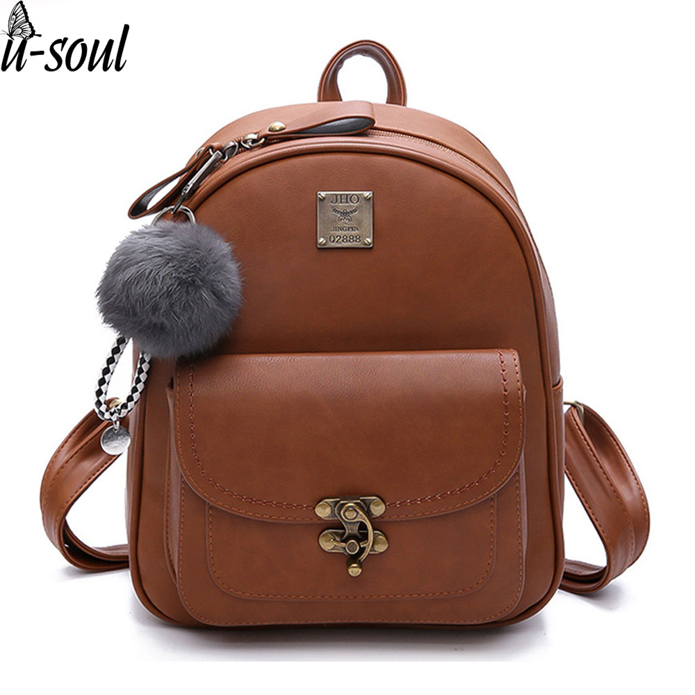 Women Small Backpack School Bags For Teenager Girl Bag Fashion Backpack Travel Leather Simple Rucksack A7163 стоимость