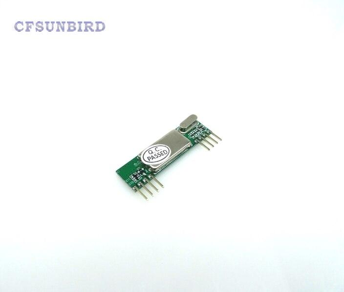 RXB6 433Mhz Superheterodyne Wireless Receiver Module ARM/AVR high frequency superheterodyne wireless receiving module green