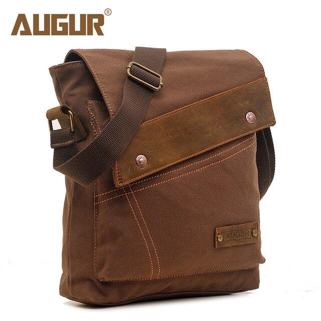 efed914088f3 AUGUR 2018 Canvas Crossbody Bag Men Military Army Vintage Messenger Bags  Large Shoulder Bag Casual Travel Bags