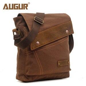 Image 1 - Augur 2020 lona crossbody saco do exército militar do vintage sacos mensageiro grande bolsa de ombro sacos viagem casuais