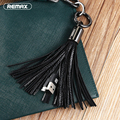 Remax Tassel Leather Micro USB Wire for Power Bank Short Key Ring 3.0A Fast Charging Cable for Samsung S6 S7 S4 HTC Huawei P8 LG