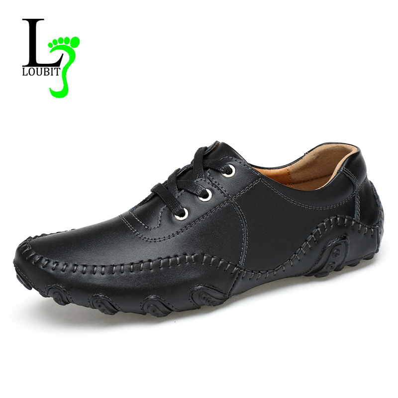Men Shoes 2017 Fashion Genuine Leather Casual Shoes Comfortable Flats Autumn Dress Shoes for Men Loafers