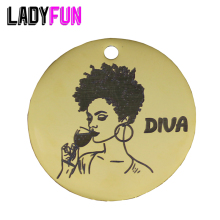 Ladyfun 2019 Customizable Wine Diva Pendant Charm Round Disc 25mm Drinker Lover Gifts Charms For Jewelry Making