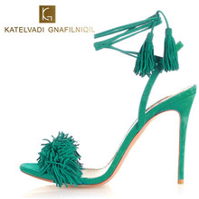 10CM High Heels Fringe Sandals Women Lace Up--this is for coins and coupons promotion,can't change size,heel height and color