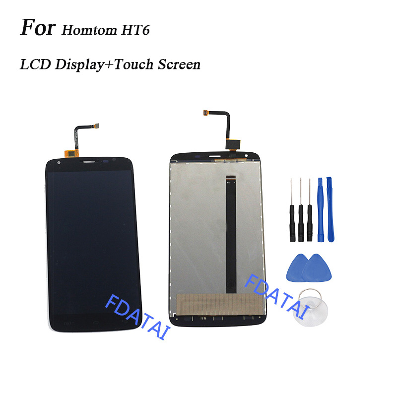 5.5 inch For Homtom HT6 LCD Display+Touch Screen For Homtom HT6 Assembly Repair Replacement Mobile Accessories+Tools