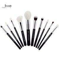 Jessup Black Silver Professional Makeup Brushes Set Make Up Brush Tools Kit Foundation Powder Definer Shader