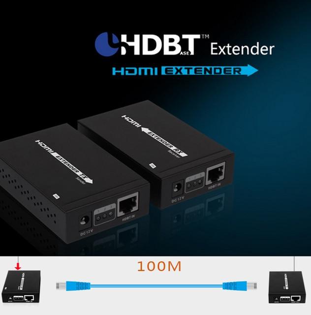 LKV375-100 HDbaseT Extender transmits HDMI signal 100M Extend 1080p 3D, 24bits deep color, 4kx2k, CEC and HDCP AV adapter