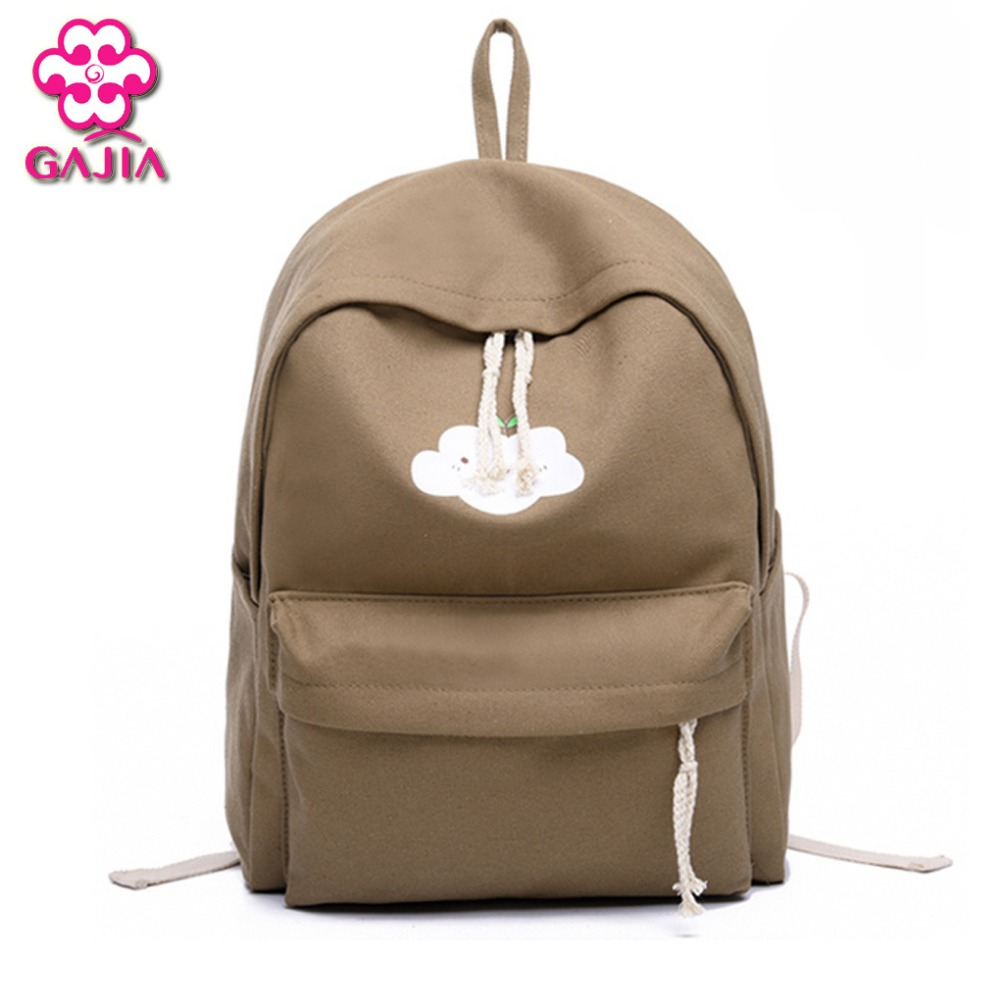 Hot Selling Preppy Style School Bags For Teenagers Unisex Mini Cute Solid Backpacks Canvas Zipper Women Shoulders Bag самокаты funny scoo самокат беговел трансформер scoot