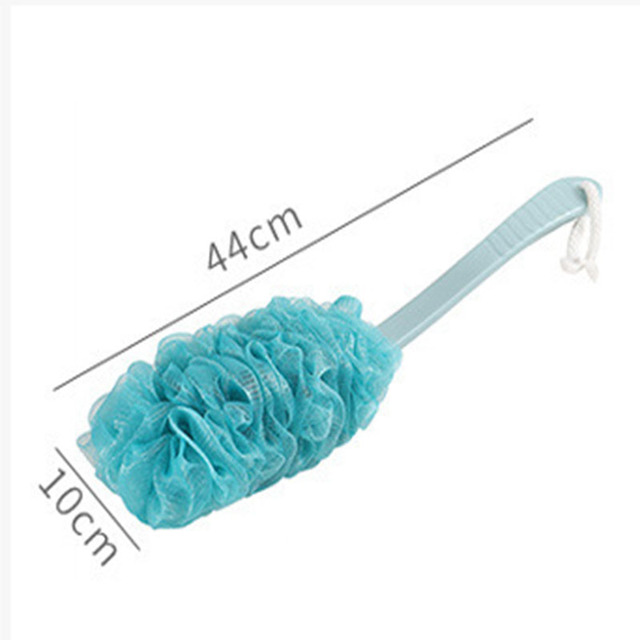 1PC Long Handle Bath Flower Scrubbing Bath Ball Large Size Bathroom Supplies Soft Bubble Gauze Mesh Rubbing Back Shower Brushes