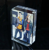 Magnetic Acrylic Frame 8x6inch 203x152mm Photo Picture Block Acrylic Magnet Connecting Photo Frame