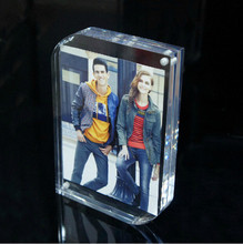Magnetic Acrylic Frame 8x6inch,203x152mm photo picture block,acrylic magnet connecting photo frame