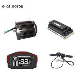 QSmotor 138 72 V 100KPH 3kw motor de transmisión media 3000 w kits de tren de potencia con controlador de motor tipo piñón