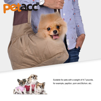 Petacc High quality Pet Dog Carrying Bag Mesh Cloth Puppy Adjustable Single Shoulder Bags Small Cat Slings Backpack Carry