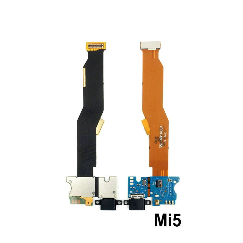 New Microphone Module+USB Charging Port Board Flex Cable Connector Parts For Xiaomi Mi5 Mi5C Mi5sPlus Mi5X Mi A1 Replacement