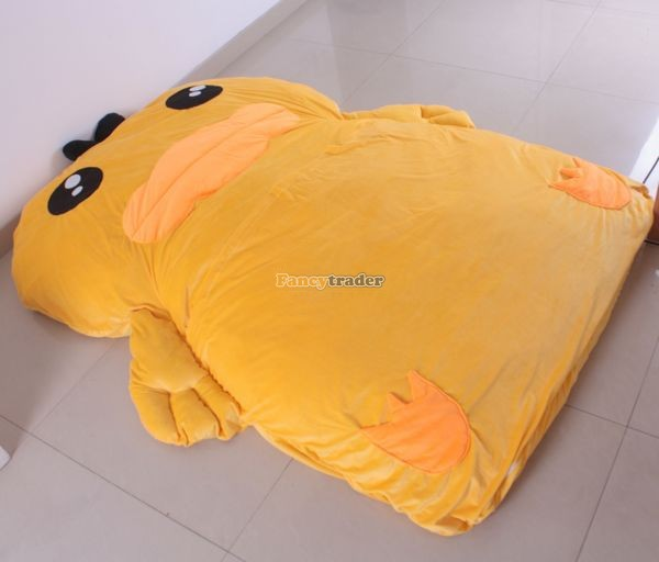 Fancytrader New High Quality Rubber Duck Bed 220cm X 155cm Super Cute Giant Yellow Rubber Duck Bed Carpet Tatami Sofa, FT90478