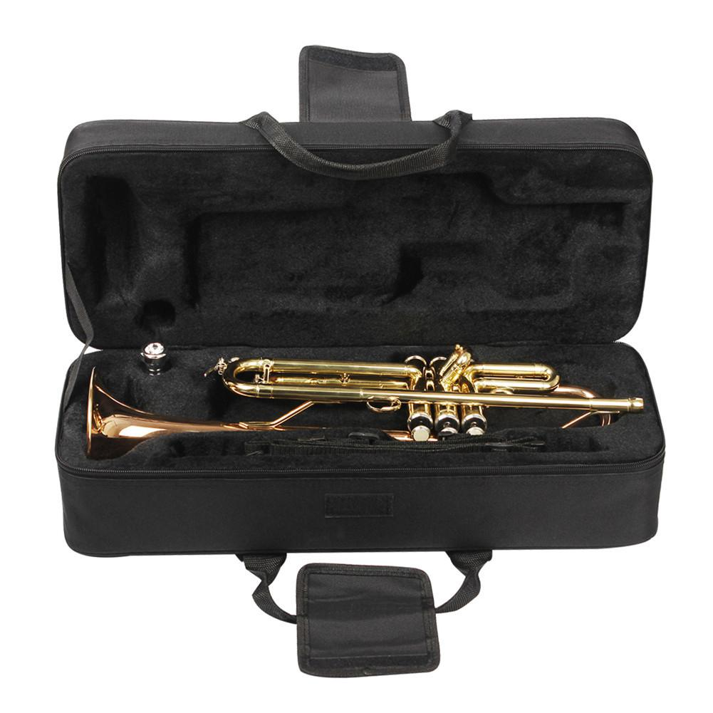SLADE Trumpet Bag Box Backpack Waterproof Oxford Carrying Case With Adjustable Dual Shoulder Strap Brass Instrument Accessories