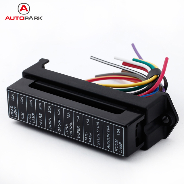 12 way dc 12v volt fuse box 24v 32v circuit car trailer auto blade fuse box block holder atc ato. Black Bedroom Furniture Sets. Home Design Ideas