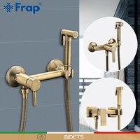 FRAP Bidets shower sprayer anal cleaning hot & cold mixer toilet spray kit bidet spray bronze shower head wash hygienic
